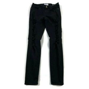 Frame Distressed Le Skinny de Jeanne Jeans